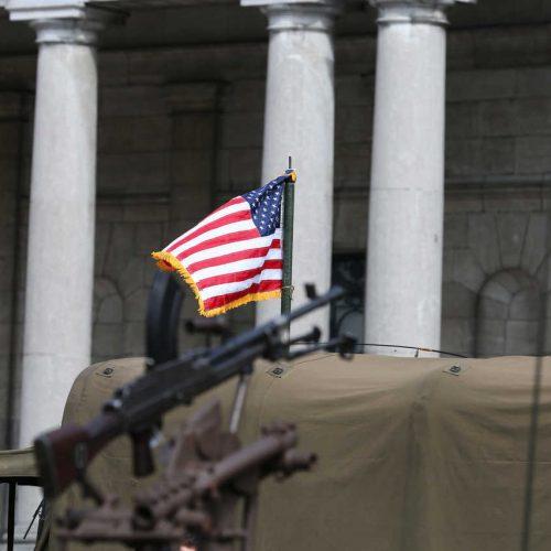 Brussels liberation day drapeau américain
