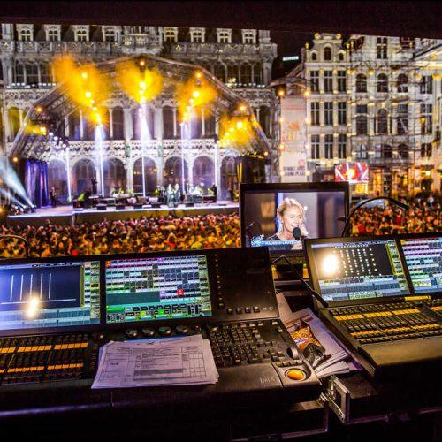 Fête de la fédération Wallonie Bruxelles régie télévision