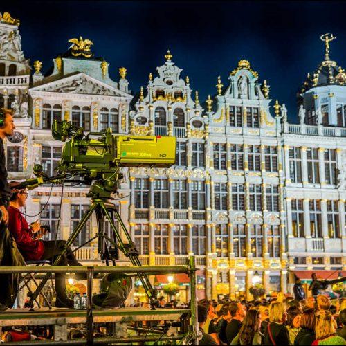 Fête de la fédération Wallonie Bruxelles caméra télévision